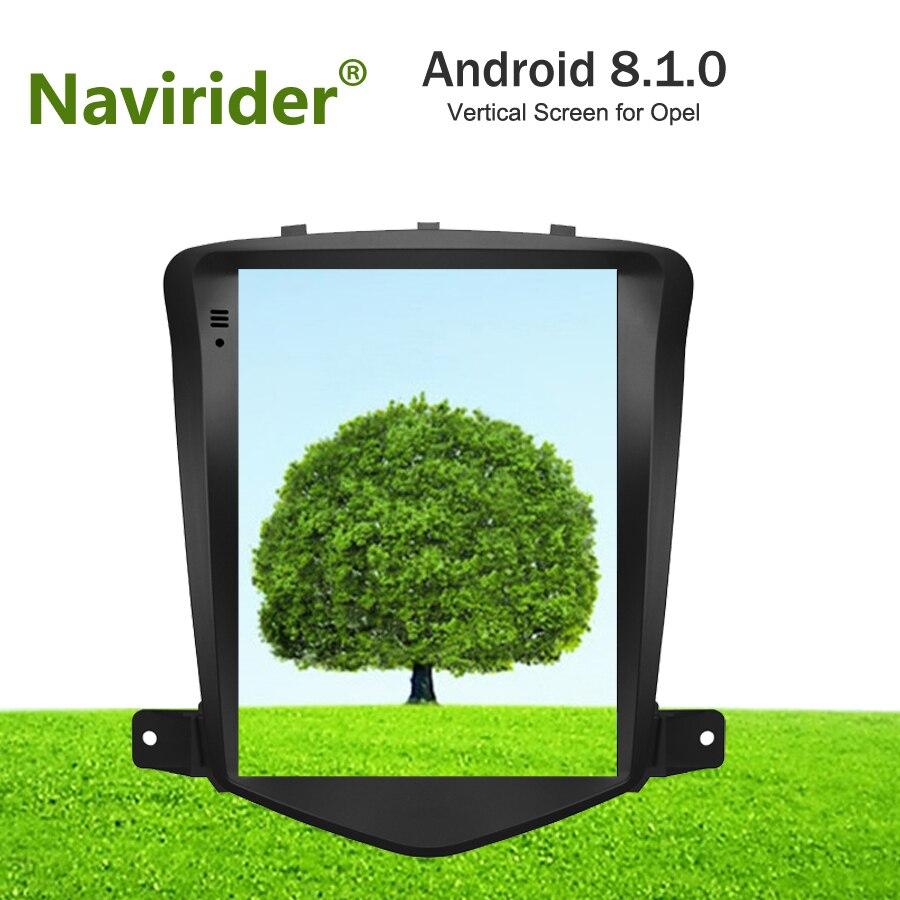 8.1.0 Vertical Da Tela android multimídia carro de navegação gps para Opel Vauxhall Astra J dual zone rádio estéreo BT4.0 unidade de cabeça