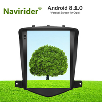 Vertical Screen android 8.1.0 gps navigation for Opel Astra J Vauxhall car multimedia dual zone stereo radio BT4.0 head unit