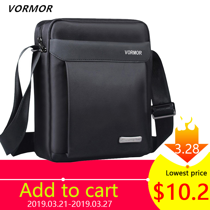247cb9528 VORMOR Men bag 2019 fashion man shoulder bags High quality oxford casual  messenger bag business male crossbody bags