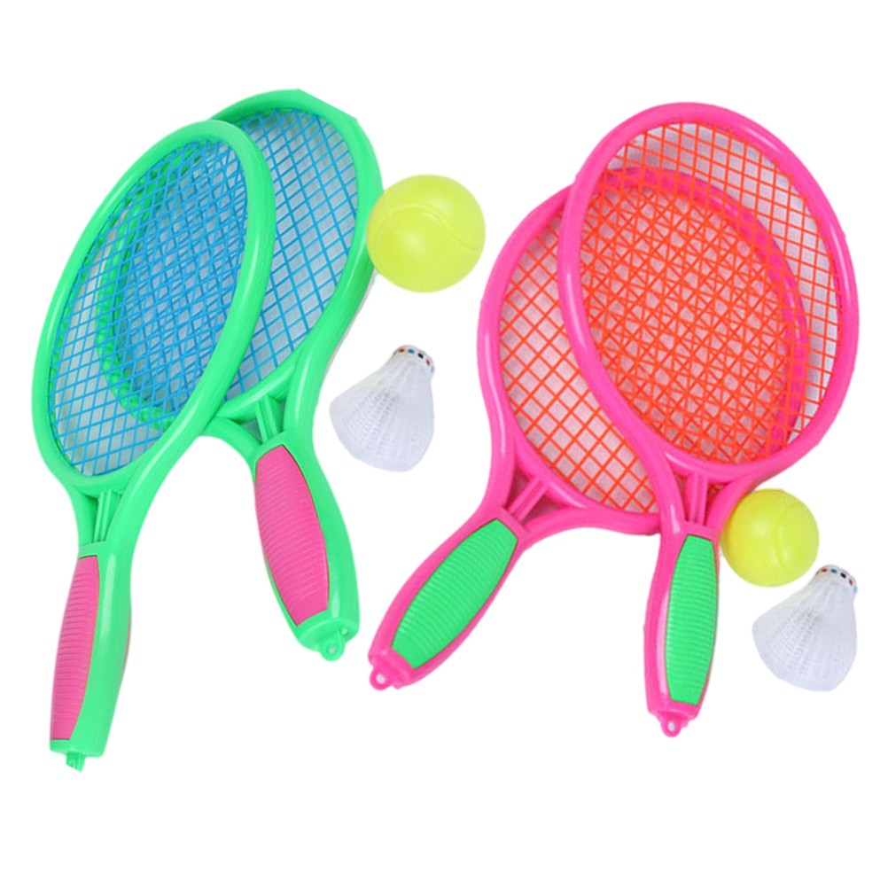 4PCS/2Set Tennis Racket Practical Middle Size Game Props For Outdoor Sports