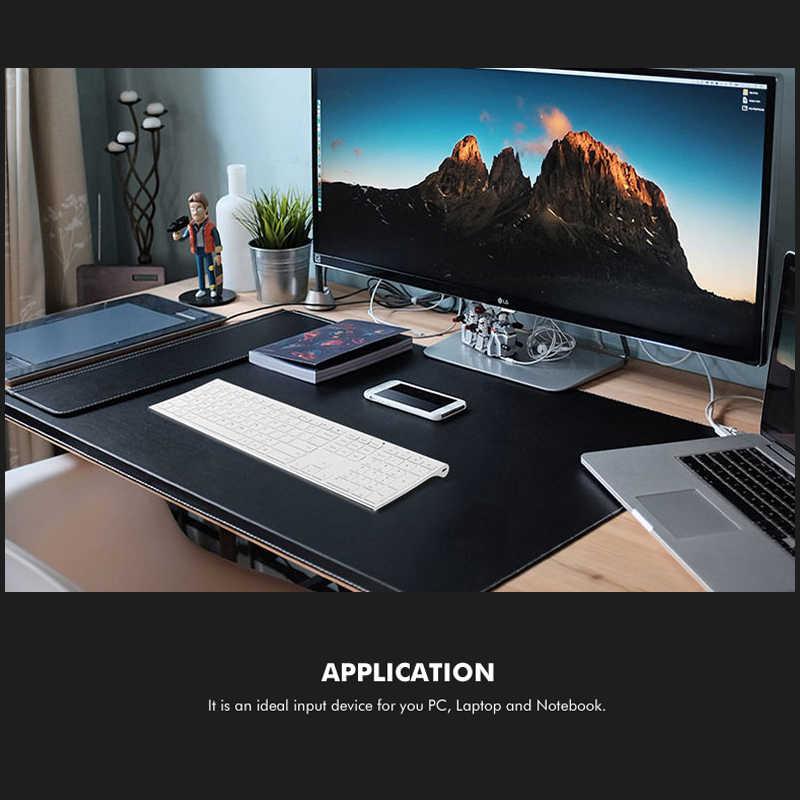 B.O.W 超薄型金属ワイヤレススリムキーボード充電式、人間工学デザイン & サイレントフルサイズデスクトップ PC コンピュータ