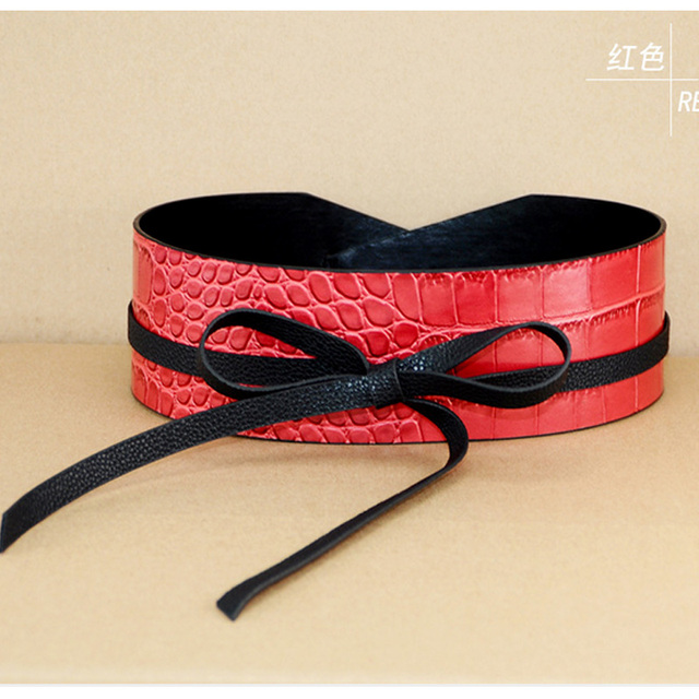 Hot Sale Fashion Wide leather belt woman vintage Floral Designer crocodile belts womenTop quality strap female Winter decoration