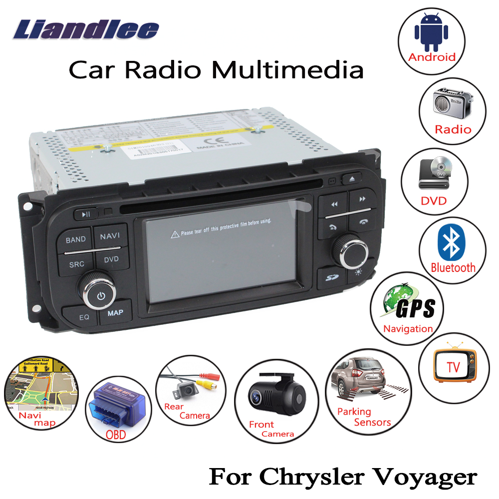 Liandlee 2din Android Car Radio For Chrysler Voyager 2001~2007 CD DVD Player GPS Navi Navigation Maps Camera OBD TV Screen Media liandlee for ford edge 2011 2014 wince car radio cd dvd player gps navi navigation maps camera obd tv screen multimedia