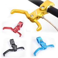 Racing Bike Bicycle Brake Lever Fixed Gear Cycling Double Control Brake Handle Lever Aluminum alloy Brake Accessories