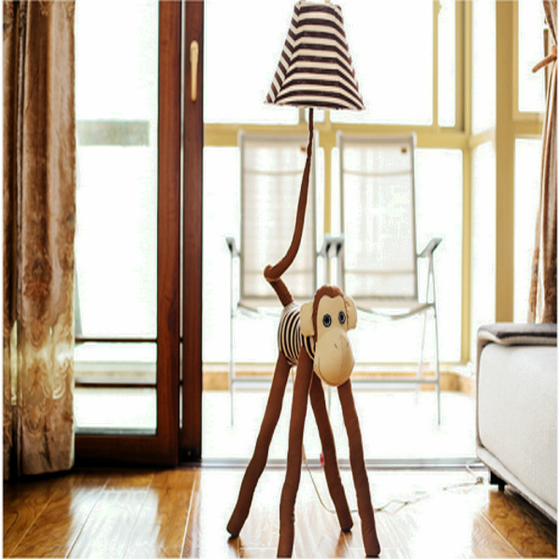 Lovely Cartoon  Monkey E27 Dimmerable Floor Lamp With Remote Control For Children's Room Bedside Gift 1175