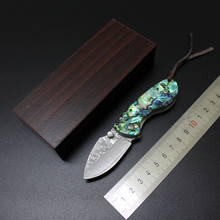 Damascus VG10 Folding Small Pocket Collection Knife 60HRC BOB Tactical Survival EDC Tools Utility Outdoor Camping ganzo Knife