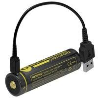 NITECORE NL1834R 3400mAh High Performance Micro USB Rechargeable Li Ion Battery 12 24Wh 3 6V Button
