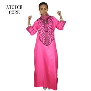 Image 5 - african bazin riche embroidery design dress only one dress LA066#