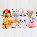 10cm Digimon Adventure plush Agumon Gomamon Gabumon Tailmon Tentomon Plush Toy Digital Soft Stuffed Toys Doll