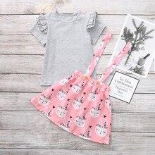 Easter Baby Toddler Girl Bunny Suspender Dress Set