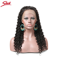 150 Density Loose Deep Wave 360 Lace Frontal Wig Natural Color Brazilian Lace Front Human Hair