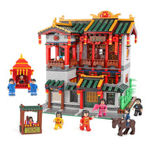 XingBao 01003 3320Pcs Creative Chinese Style The XINYA Palace Set Educational Building Blocks Bricks Toys For Kids Model Gifts(China)