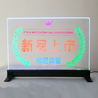 """16'' x 8"""" customized content LED Message Writing Board Illuminated Erasable Neon Effect led Sign board"""