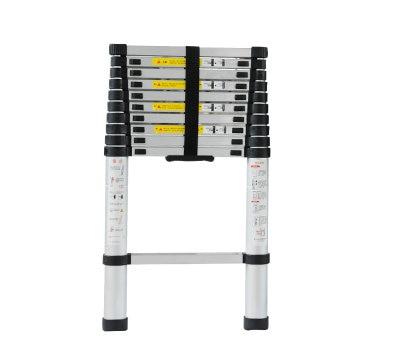 2.6m retractable folding aluminum upright ladder, multi-purpose home/library/engineering ladder