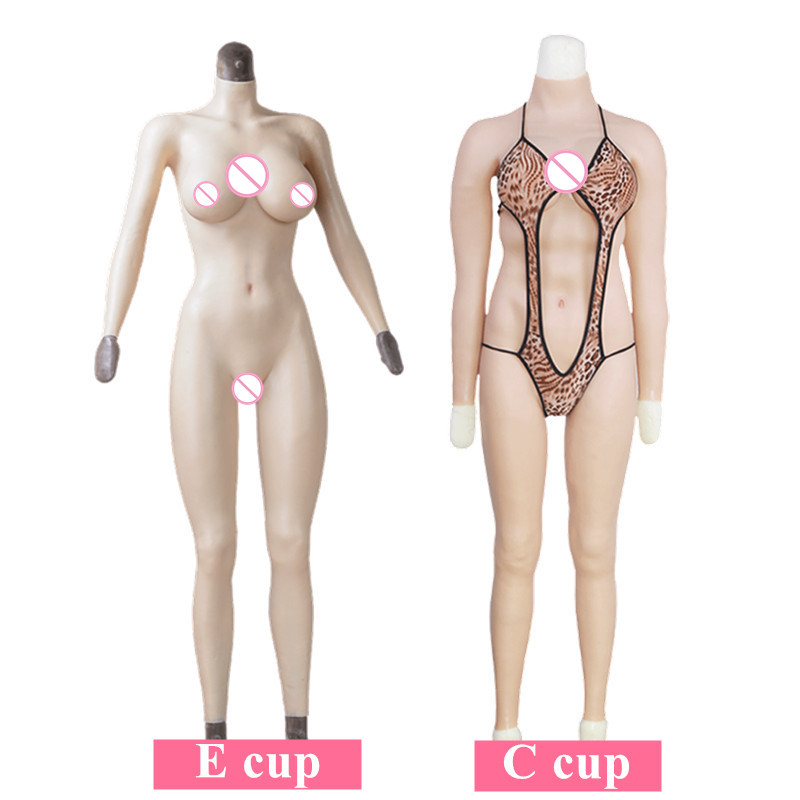 C E Cup Whole Body Silicone Tights Breast Forms With Fake Huge Boobs For Shemale Crossdresser Transgender Transsexual CosplyC E Cup Whole Body Silicone Tights Breast Forms With Fake Huge Boobs For Shemale Crossdresser Transgender Transsexual Cosply