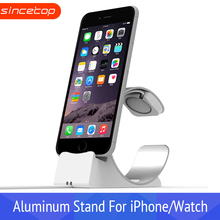 Mobile Support for Apple Watch Stand Charging Dock for iPhone 7 phone Holder desk Bracket Aluminum Desktop base for ipad apple watch stand iphone display holder iwatch charging dock tablet bracket ipad display acrylic for smart watch exhibit
