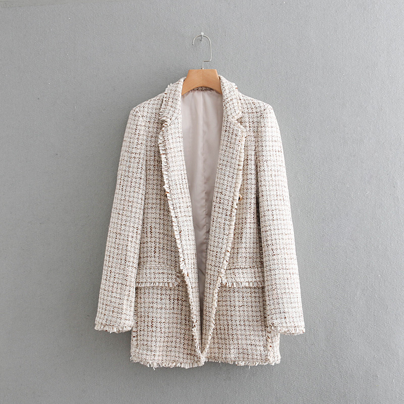 Women's Suit Jacket 2019 New Autumn And Winter Fashion Temperament Small Fragrance Wind Tweed Wild Casual Loose Coat Female