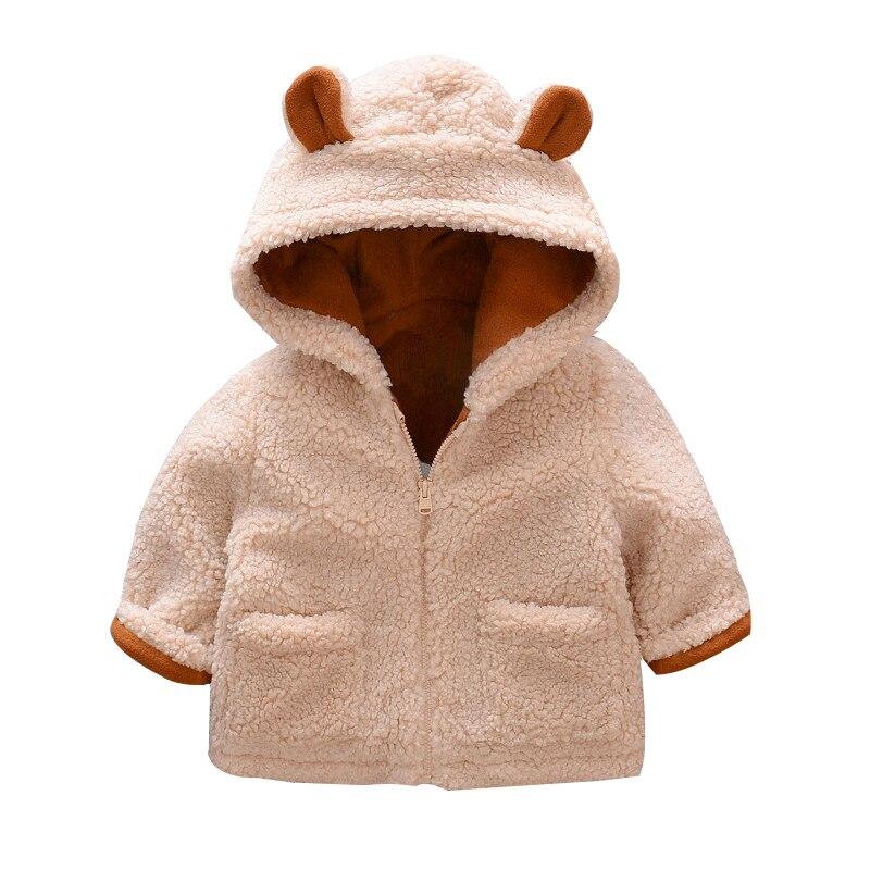 2019 Winter Faux Fur Newborn boy Girls Jackets beige Baby Coats Clothes Kids Coat Warm jacket Children Clothing Outerwear|Jackets & Coats| |  - title=