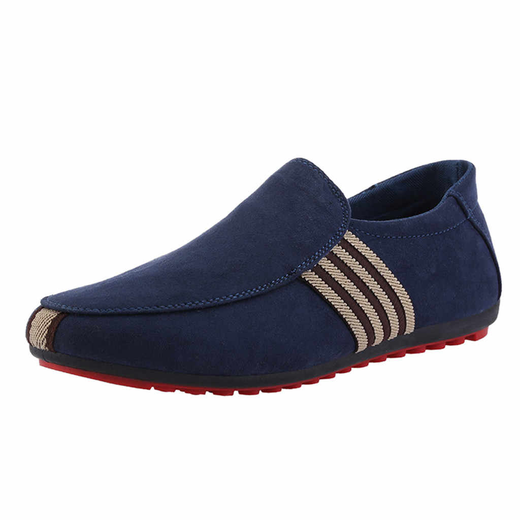 Ventilation Men Casual Canvas Red Bottom Shoes Loafers High Quality Italy Brand Design Man Casual Peas Shoes Pumps Classic
