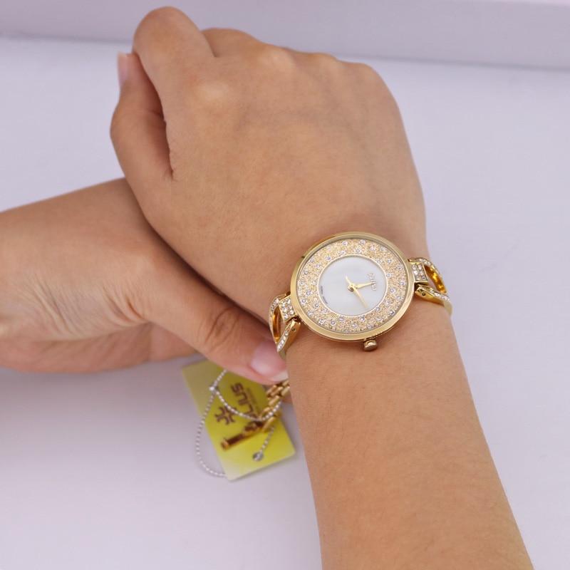 Crystal Rhinestone Shell Lady Women's Watch Japan Quartz Timer Klokke - Dameklokker - Bilde 5