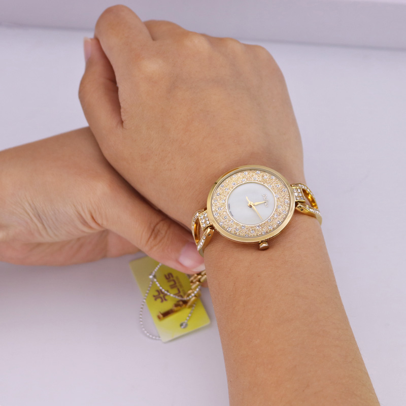 Crystal Rhinestone Shell Lady Women's Watch Japan Quartz Hours Clock - Women's Watches - Photo 5