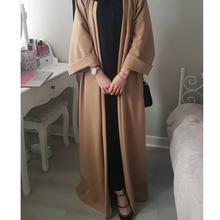 2019 Muslim Arab UAE Abaya Dress Women Cardigan Long Robe Gowns Dubai Turkish Kaftan Ramadan Islamic Prayer Clothing Vestidos
