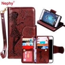 Nephy Wallet Phone Case For Huawei P8 Lite 2017 P10 Plus Y5 II LYO L21 Honor 5A Y6 II Coque Flip Makeup Mirror Capa Coque Bumper