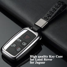 1pc Styling Car Key Case Cover Shell Storage Bag Protector Accessories for Land Rover Range Discovery 4 Jaguar XF