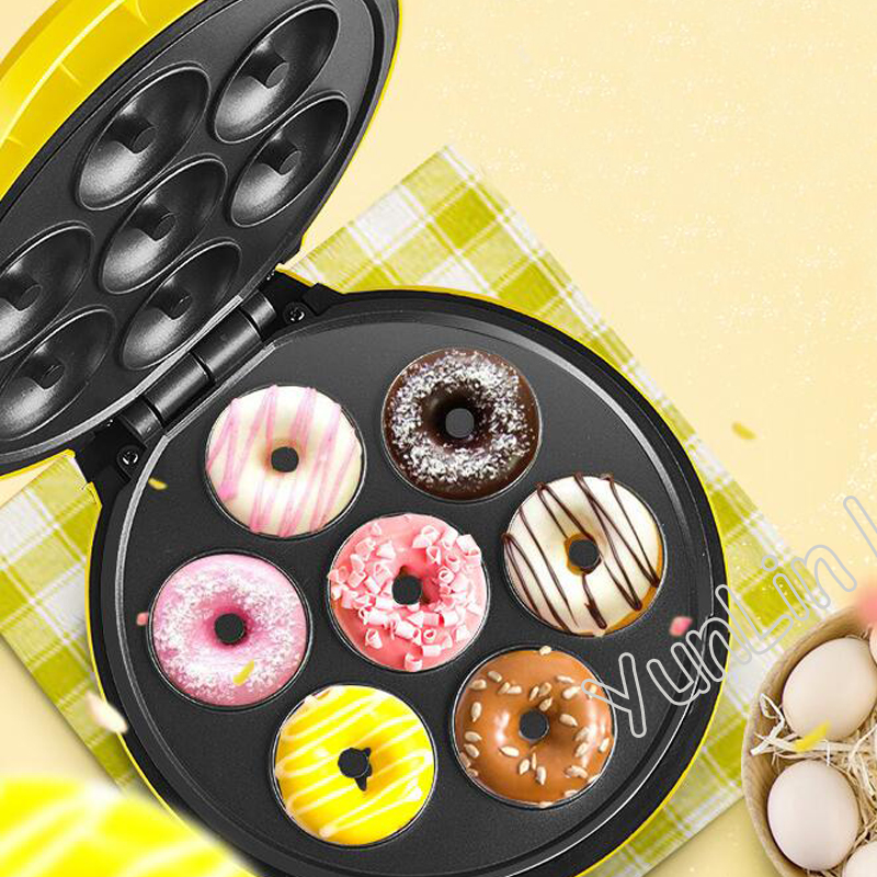 Electric Doughnut Waffle Maker Two-Side Heating Automatic Egg Cake Maker Ball Mould Machine JBD-05 round cake mould