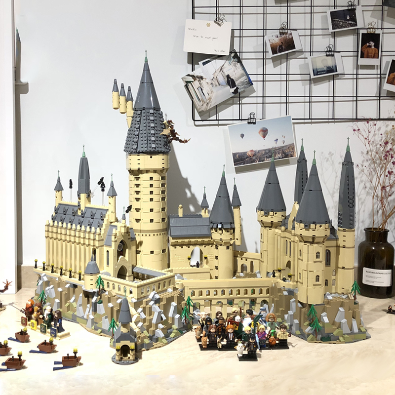 LELE DHL 16060 Harry Movie Potter Hogwarts castle Magic Model Set Building Blocks Bricks Compatible 71043 DIY Kids Toys