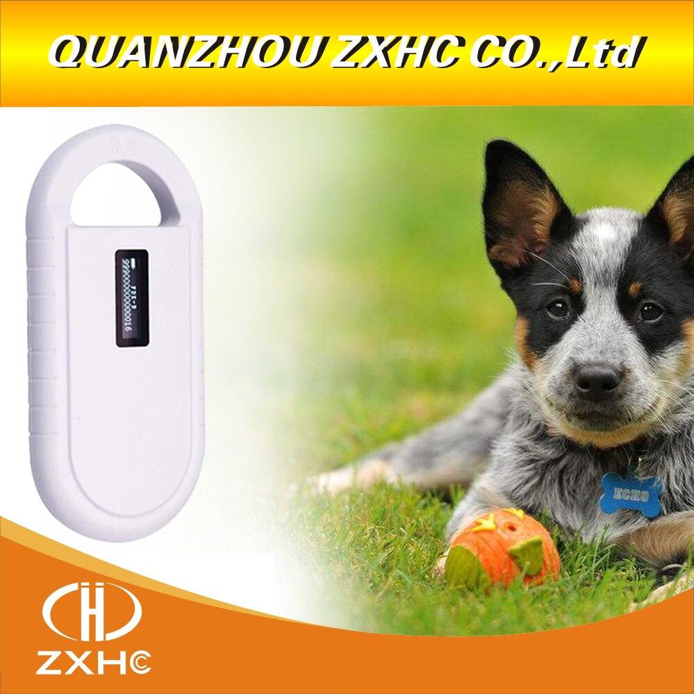 Scanner portatif de lecteur de puce de l'affichage RFID ISO11784/11785 134.2 Khz FDX-B d'oled pour le chien/chat - 3