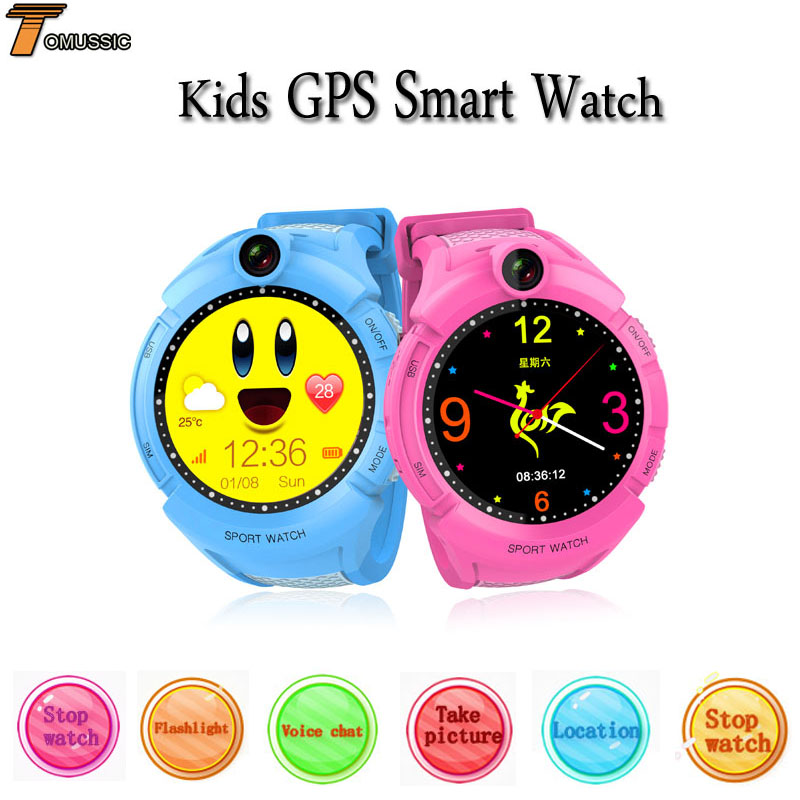 TOMUSSIC Smart Watch Kids GPS Tracking Watch Q610S GPS Locator Tracker Anti-Lost Monitor Baby Watch SOS Call Location Finder