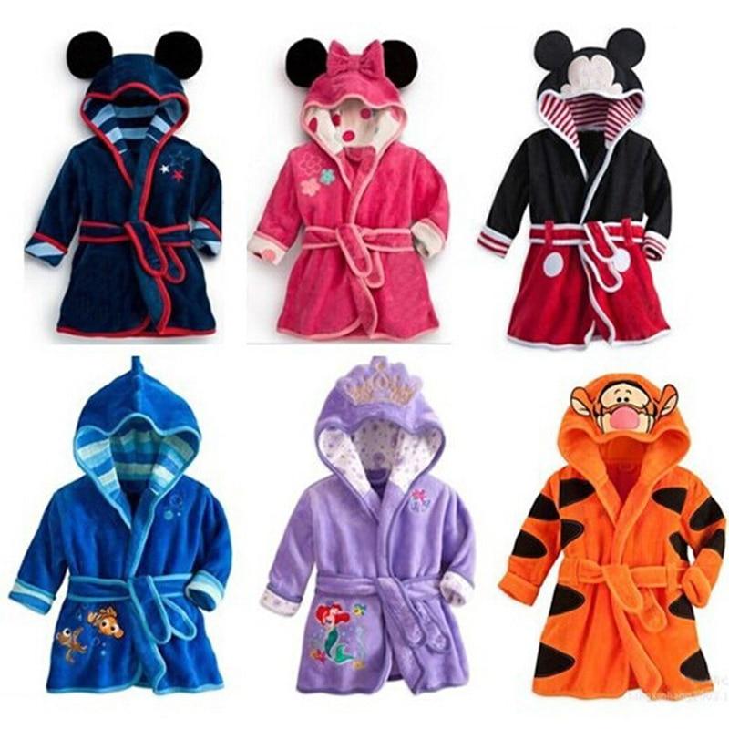 2018 New Character Cotton Child Robe kids Bathrobe Children's Roupao Infant Baby Cloth Bath Robe For Baby Girls Boys стоимость