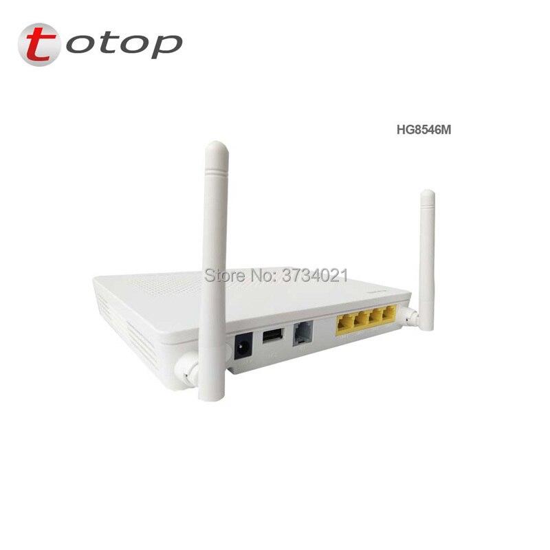 De segunda mano de Huawei GPON ONU HG8546M con 4 * puertos LAN + 1 * Teléfono Puerto + wifi + 99% nuevo HG8546M GPON ONT