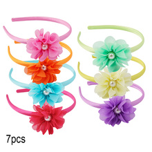 Candygirl 6 7 8 Colors/Set Soft Big Rose Flower Headband for Girls Kid Birthday Party Photo Prop Hair Hoop Accessories Headdress