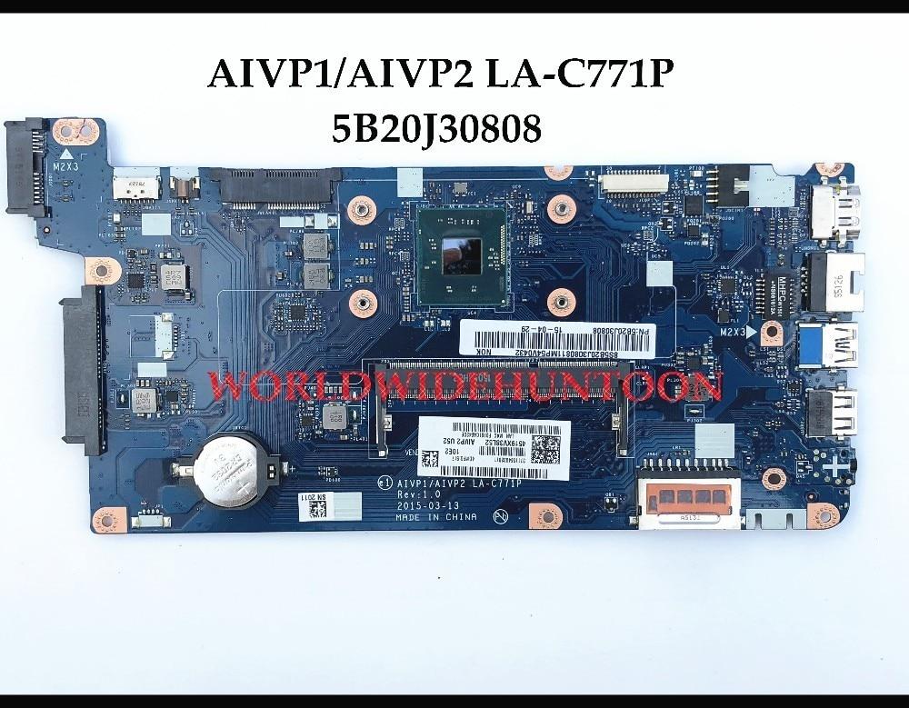 Original AIVP1 AIVP2 LA C771P for Lenovo Ideapad 100 15IBY Laptop Motherboard FRU 5B20J30808 SR1YJ N2840