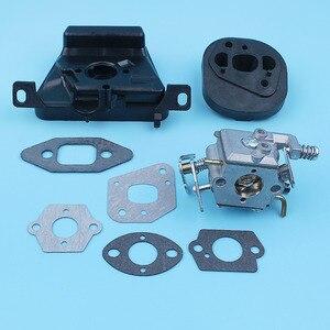 Image 1 - Kit de soporte de filtro de aire para carburador, Colector de admisión para MCCULLOCH MAC CAT 335 435 440, pieza de repuesto para motosierra Walbro Carb