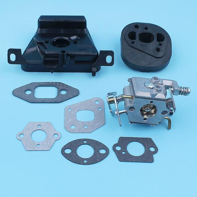 Kit de soporte de filtro de aire para carburador, Colector de admisión para MCCULLOCH MAC CAT 335 435 440, pieza de repuesto para motosierra Walbro Carb