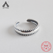 2018 New Listing S925 Sterling Silver Retro Opening Ring
