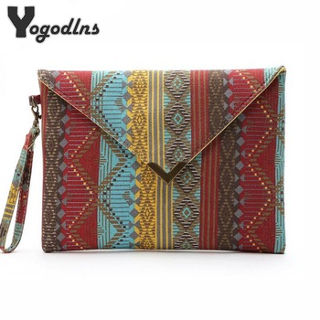 2018 vintage evenlope clutch bag Bolsa Feminina new handbag canvas day clutches fashion women messenger bags striped handbags