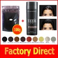 Toppik natural keratin hair building fibers powder refill bag 100g+ 27.5g bottle 9 colors for hair regrowth