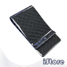Light and Thin Carbon Fiber Wallet Business Card Clip