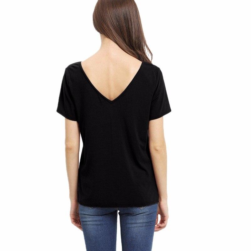 HTB1lPoxMVXXXXbmapXXq6xXFXXXJ - Bandage Sexy V Neck Criss Cross Top Casual Lady Female T-shirt