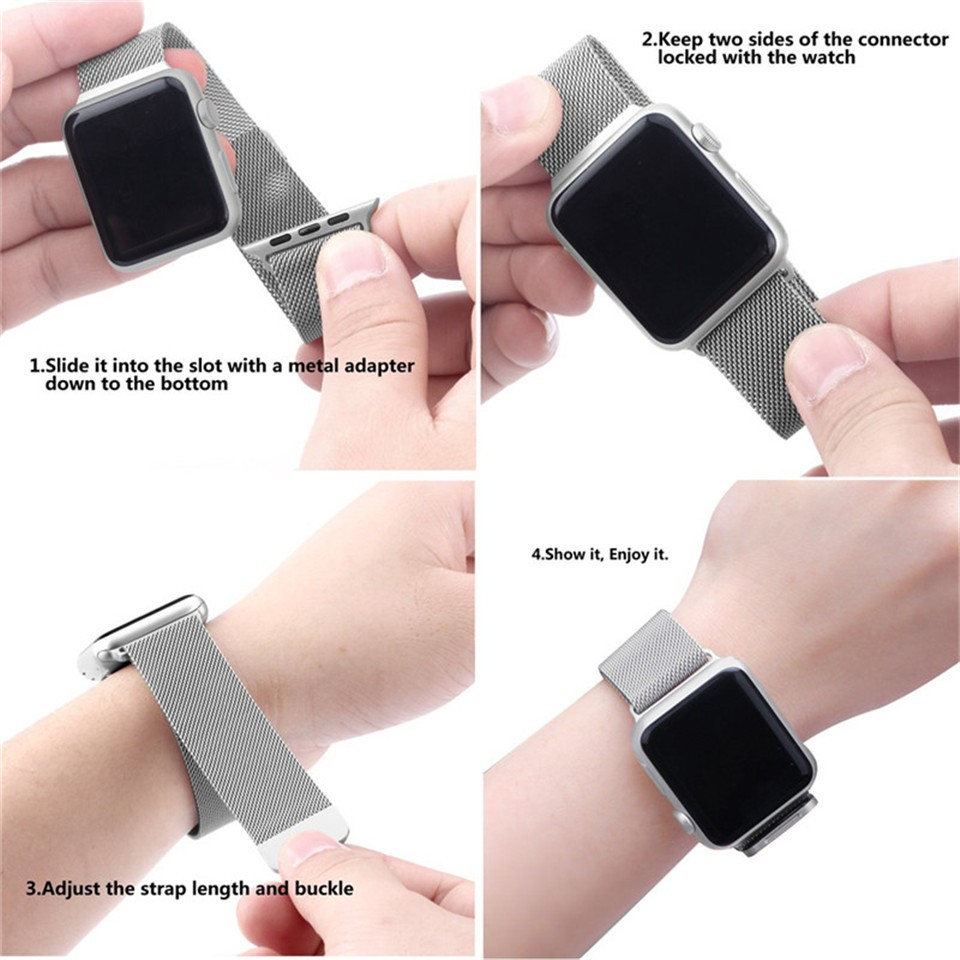 Stainless-Steel-Watchband-22mm-24mm-Milanese-Loop-Magnetic-Band-Bracelet-Strap-for-38mm-42mm-iWatch-Apple