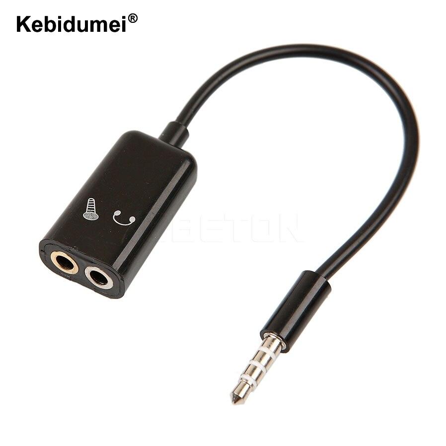 Kebidumei New 3 5mm Stereo Splitter Audio Male To Earphone