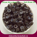 ( 1000pcs/bag ) 4.5mm Dark Brown 3# Aluminum Silicone Micro Tubes for I-tip Hair and Micro Ring Loop Hair Extensions