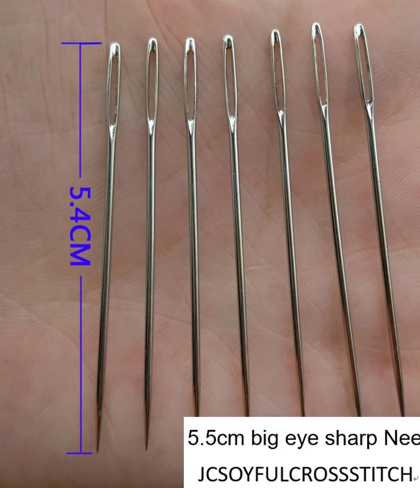 NWY 10 pcs/ot 5.4cm big eye sharp Needles for Ribbon embroidery big hole bodkin Craft art sewing Tool DIY needlework wholesale