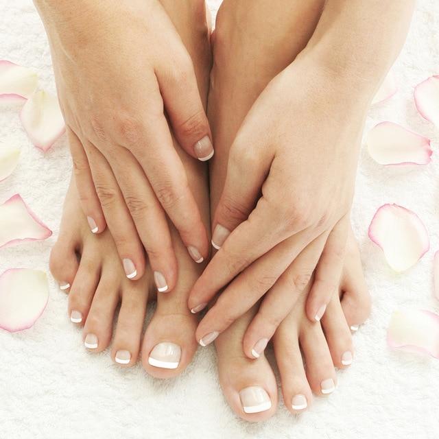 Clical French Fake Nails Toe Tips Artificial Kit 24 Pcs 48