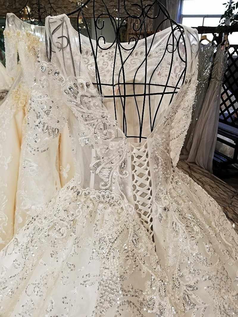 LS21047 nouvelle vraie robe de mariée 100% vraie conception originale OEM accepté manches longues mariage hors épaule comme robe de mariée blanche