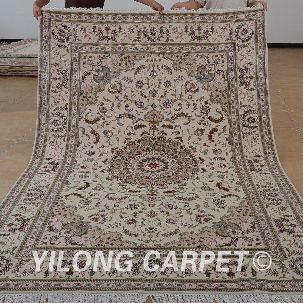 Yilong 6 X9 Oriental China Wool Silk Carpet Price Exquisite Handmade Woolsilk Persian Rugs